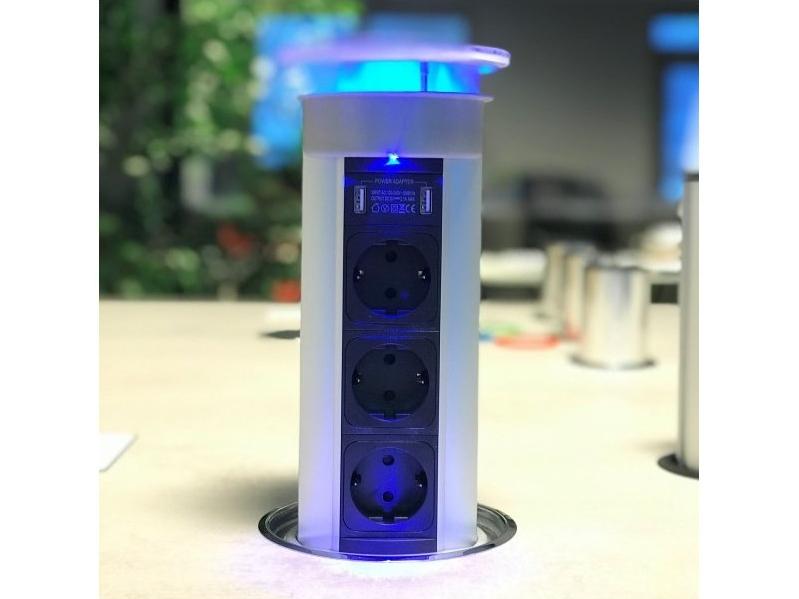 Vstavaná otočná zásuvka Bachmann Twist 2x 230V matná